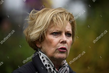 MP Anna Soubry is seen talking to media in Westminster, London. Last week Parliament sat on a Saturday for the first time since 1982, but failed to vote on Boris Johnson's new Brexit deal.