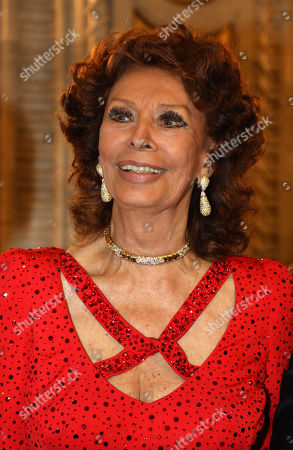 Stock Image of Sophia Loren, Carlo Ponti Jr.