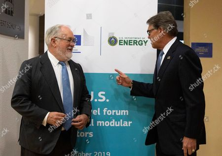 Editorial picture of EU US Energy, Brussels, Belgium - 21 Oct 2019