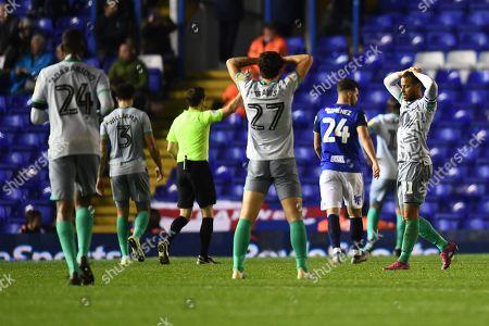 Harry Chapman of Blackburn Rovers shows a look of dejection.