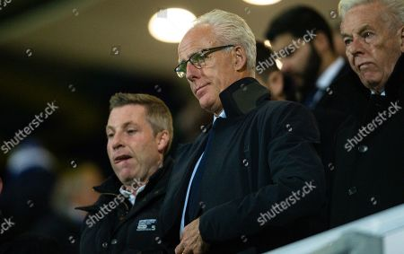 Neil Harris and Mick McCarthy manager of Republic of Ireland look on
