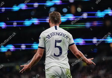 Jan Vertonghen of Tottenham Hotspur reacts during play