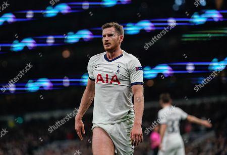 Stock Image of Jan Vertonghen of Tottenham Hotspur reacts during play