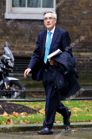 MP for Wokingham John Redwood arrives in No 10 Downing Street.