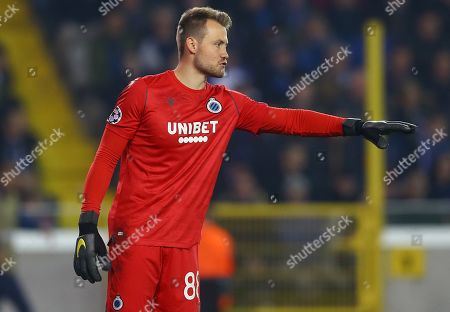 Stock Image of Simon Mignolet of Club Brugge