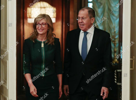 Editorial image of Bulgarian Foreign Minister visits Russia, Moscow, Russian Federation - 21 Oct 2019