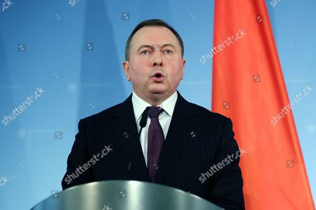 Editorial image of Belarusian Foreign Minister Makei in Berlin, Germany - 21 Oct 2019