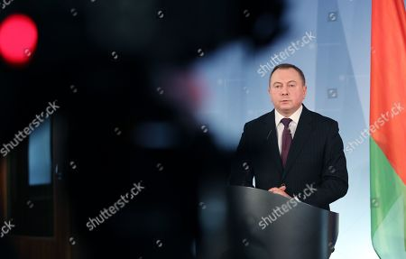 Editorial picture of Belarusian Foreign Minister Makei in Berlin, Germany - 21 Oct 2019