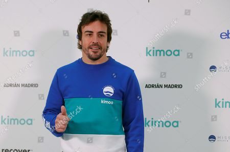Spanish driver Fernando Alonso, two-times World F-1 Champion, poses for the photographers as he presents the project 'Mission Blue x Kimoa' at eBay headquarters in Madrid, Spain, 21 October 2019. According to the official website, Mission Blue inspires action to explore and protect the ocean. Led by legendary oceanographer Dr. Sylvia Earle, Mission Blue is uniting a global coalition to inspire an upwelling of public awareness, access and support for a worldwide network of marine protected areas.