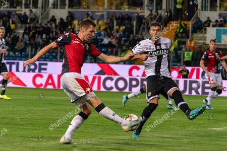 Stock Photo of Lukas Reiff Lerager (Genoa) Kastriot Dermaku (Parma)