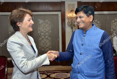 Editorial picture of Swiss federal councillor Simonetta Sommaruga visits New Delhi, India - 21 Oct 2019