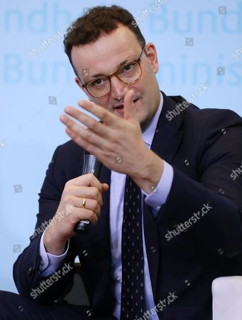German Health Minister, Jens Spahn, speaks during the presentation of an awareness campaign on depression by the Robert-Enke Foundation, in Berlin, Germany, 21 October 2019. On the 10th anniversary of the death of the former goalkeeper of the German national squad, the Robert-Enke Foundation starts a nationwide information campaign on depression as a disease.