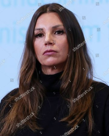 The President of the Robert Enke Foundation, Teresa Enke, speaks during the presentation of an awareness campaign on depression by the Robert-Enke Foundation, in Berlin, Germany, 21 October 2019. On the 10th anniversary of the death of the former goalkeeper of the German national squad, the Robert-Enke Foundation starts a nationwide information campaign on depression as a disease.