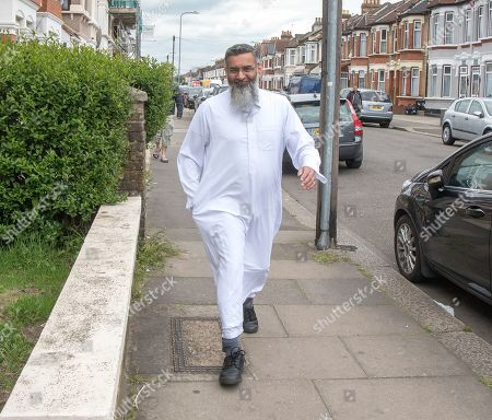 Stock Photo of Hate preacher Anjem Choudary is inspiring his network of extremists and poses a renewed terror threat a year after he left jail, an analysis by experts has warned. The firebrand cleric's release has reinvigorated his outlawed jihadist group al-Muhajiroun, they found. The 'unrepentant' father of five is back in his family home in east London where he previously masterminded the Islamist extremist network which helped radicalise terrorists, including London Bridge attack ringleader Khuram Butt, and Michael Adebolajo and Michael Adebowale, who murdered soldier Lee Rigby.