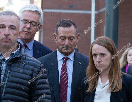 Editorial image of Former Pimco CEO Douglas Hodge at Moakley Federal Courthouse, Boston, USA - 21 Oct 2019