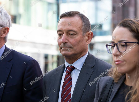 Editorial photo of Former Pimco CEO Douglas Hodge at Moakley Federal Courthouse, Boston, USA - 21 Oct 2019