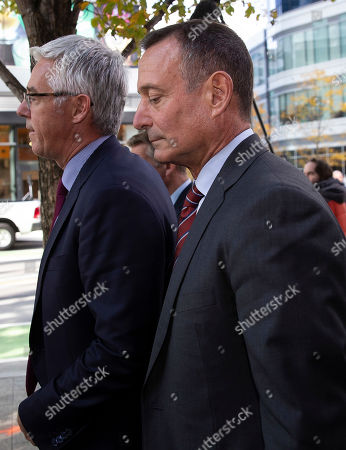 Editorial picture of Former Pimco CEO Douglas Hodge at Moakley Federal Courthouse, Boston, USA - 21 Oct 2019