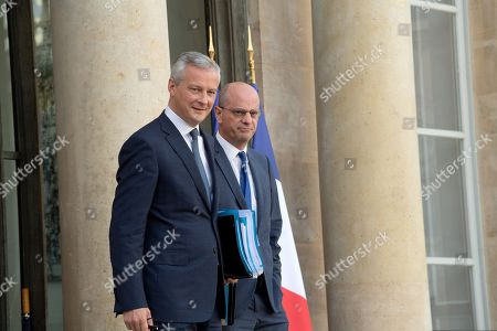 French Economy and Finance Minister Bruno Le Maire and French Education and Youth Affairs Minister Jean-Michel Blanquer