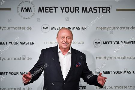 Stock Image of German chef Alfons Schuhbeck attends a photocall for the new online education and entertainment platform 'Meet Your Master' in Munich, Germany, 21 October 2019.