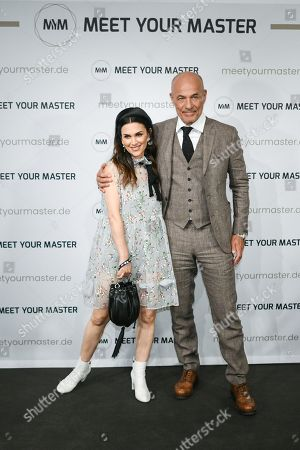 Heiner Lauterbach (R) and his wife Viktoria attend a photocall for the new online education and entertainment platform 'Meet Your Master' in Munich, Germany, 21 October 2019.