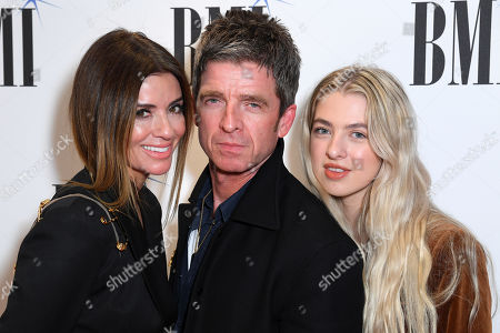 Stock Picture of Noel Gallagher, Sara MacDonald and Anais Gallagher