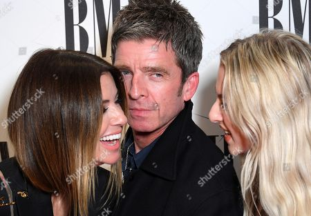 Stock Image of Noel Gallagher, Sara MacDonald and Anais Gallagher