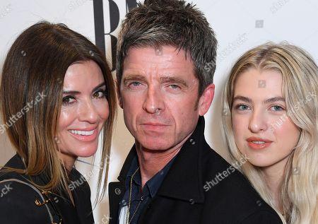 Noel Gallagher, Sara MacDonald and Anais Gallagher