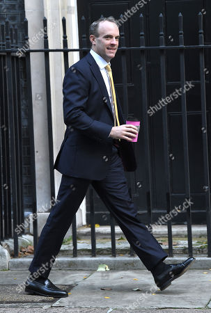 Dominic Raab during a cabinet meeting in Downing Street
