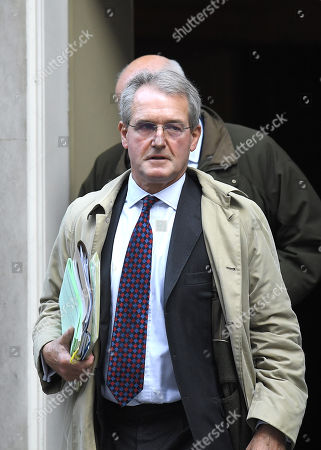 Owen Paterson during a cabinet meeting in Downing Street