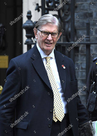 Bill Cash during a cabinet meeting in Downing Street