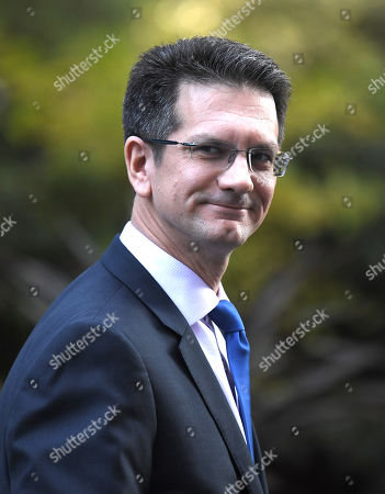 Steve Baker during a cabinet meeting in Downing Street