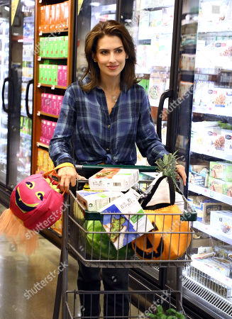 Hilaria Baldwin loads up on Dr. Praeger's meals at a grocery store in Tribeca