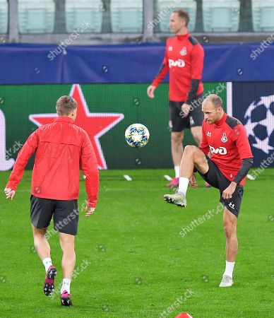 Editorial image of Lokomotiv Moscow training, Turin, Italy - 21 Oct 2019