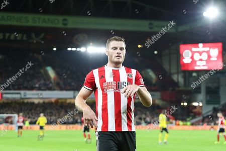 Sheffield United defender Jack O'Connell (5) during the Premier League match between Sheffield United and Arsenal at Bramall Lane, Sheffield