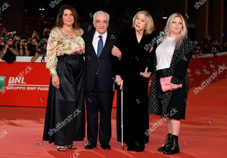 Martin Scorsese (2-L), his wife Helen Morris (2-R) and his daughters Cathy Scorsese (L) and Francesca Scorsese (R) arrive for the screening of 'The Irishman' at the 14th annual Rome Film Festival, in Rome, Italy, 21 October 2019. The film festival runs from 17 to 27 October 2019.