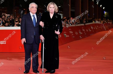 Martin Scorsese (L) and his wife Helen Morris (R) arrive for the screening of 'The Irishman' at the 14th annual Rome Film Festival, in Rome, Italy, 21 October 2019. The film festival runs from 17 to 27 October 2019.