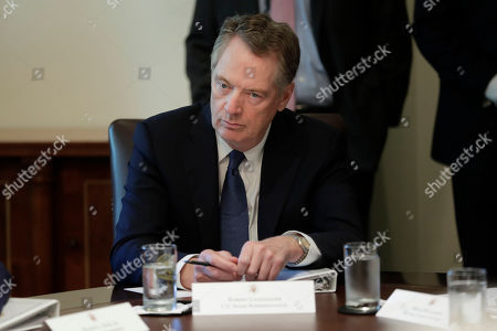 U.S. Trade Representative Robert Lighthizer listening to President Donald Trump during a Cabinet meeting in the Cabinet Room of the White House, in Washington