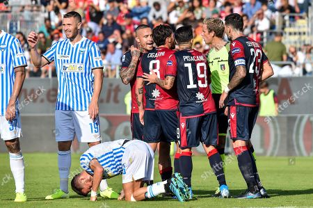 Editorial photo of Cagliari v Spal, Italian Serie A football match, Stadium Sardegna Arena, Caglairi, Italy - 20 Oct 2019