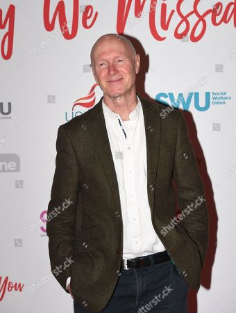Paul Laverty attends the premiere of the film 'Sorry We Missed You' at Leicester Square in London, Britain, 21 October 2019.