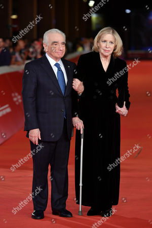 Martin Scorsese (L) and his wife Helen Morris (R)