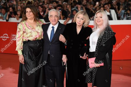 Stock Image of Martin Scorsese with his wife Hellen Morris and daughters Cathy Scorsese and Francesca Scorsese