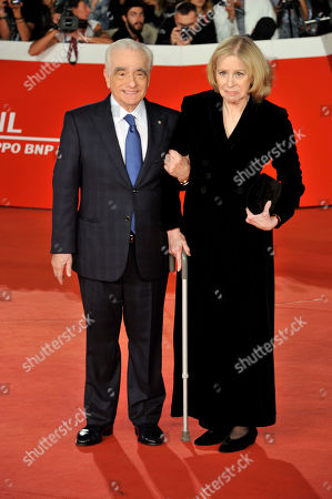 Stock Photo of Martin Scorsese with his wife Helen Morris