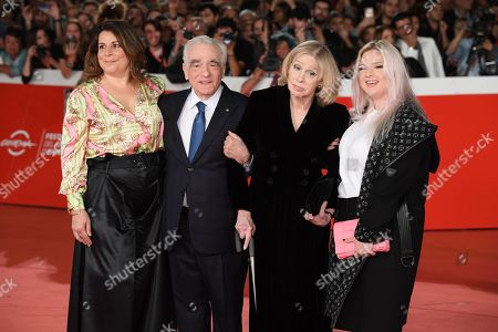 Martin Scorsese with his wife Hellen Morris and daughters Cathy Scorsese and Francesca Scorsese