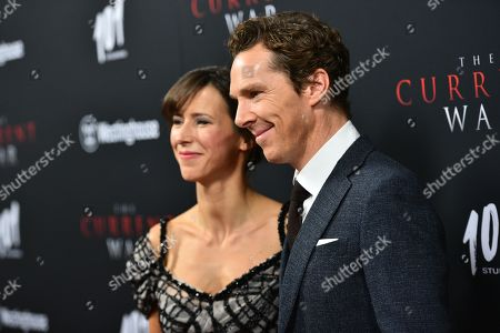 Stock Picture of Sophie Hunter and Benedict Cumberbatch