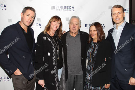 Edward Burns, Jane Rosenthal, Robert De Niro, Amy Hobby and David Earls
