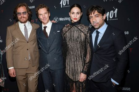 """Michael Shannon, Benedict Cumberbatch, Tuppence Middleton and Alfonso Gomez-Rejon attends the premiere for NY Premiere of """"The Current War: Director's Cut"""" at AMC Lincoln Square, in New York"""