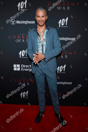 """Jay Manuel attends the premiere for NY Premiere of """"The Current War: Director's Cut"""" at AMC Lincoln Square, in New York"""