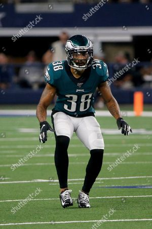 Philadelphia Eagles' Orlando Scandrick drops into coverage against the Dallas Cowboys during an NFL football game in Arlington, Texas