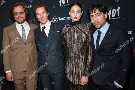 "Michael Shannon, Benedict Cumberbatch, Tuppence Middleton and Alfonso Gomez-Rejon attends the premiere for NY Premiere of ""The Current War: Director's Cut"" at AMC Lincoln Square, in New York"