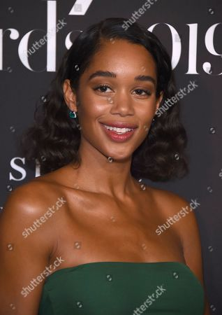Laura Harrier arrives at the 5th annual InStyle Awards, at the Getty Center in Los Angeles